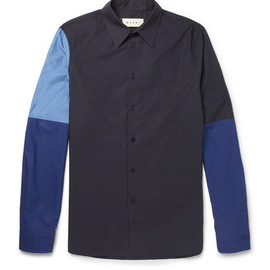 Marni - Marni Contrast-Sleeve Cotton Shirt