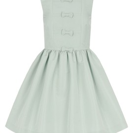 RED VALENTINO - Sleeveless dress in faille