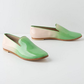 Anthropologie - Watermelon Ombre Loafers