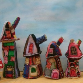 cocoondesigns - wool houses in a row