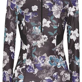 Adidas by Stella McCartney - Floral-print hooded Climacool® top