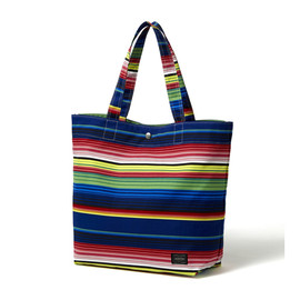 "HEAD PORTER - ""VISTA"" SHOPPING BAG (L) BLUE"