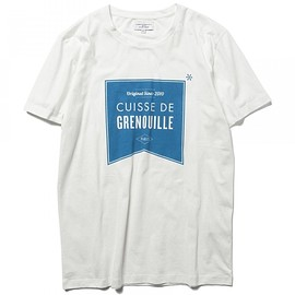 CUISSE DE GRENOUILLE - CUISSE DE GRENOUILLE×BEAMS LIGHTS / 40th別注 フラッグプリントTシャツ