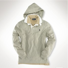 RALPH LAUREN - Hooded Rugby Shirt