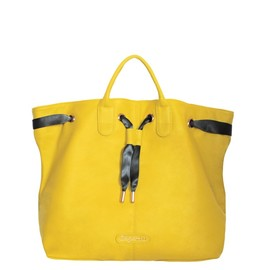 Repetto - Shopping bag Arabesque Smile yellow Silk calfskin