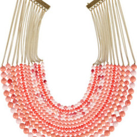 Rosantica - Raissa 24-karat gold-dipped beaded necklace