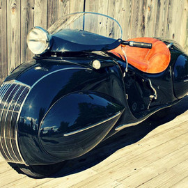Henderson Motorcycle - art deco Custom 'Streamliner' 1930