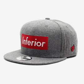 """Mark McNairy for Heather Grey Wall - """"Inferior"""" Snap Back Cap"""