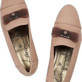 LANVIN - Bow-detailed leather loafers