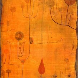 Paul Klee - Fruits on Red, 1930, watercolour on paper