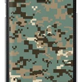 SECOND SKIN - DIGITAL camouflage グリーン (クリア) design by Moisture / for GALAXY Note III SC-01F/docomo