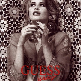 Ellen Von Unwerth - Poster of Claudia Schiffer for Guess Jeans