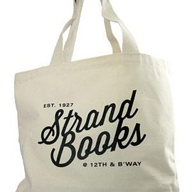 strand books - Large Tote: Natural 12th and Broadway Tote Bags & Pouches