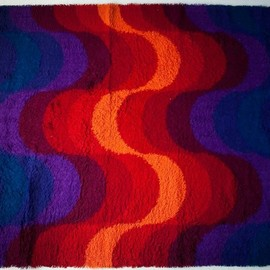 "Mira X - Mira Romantica Carpet ""Wave"" Designed by Verner Panton"