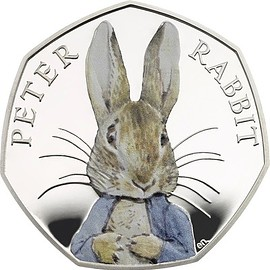 Beatrix Potte / The Loyal Mint - Peter Rabbit  50p Silver Proof Coin