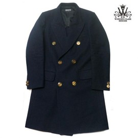 WORKING CLASS HEROES - DOUBLE BREASTED CHESTERFIELD COAT(NAVY)