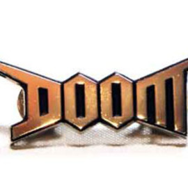 DOOM metal pin badge