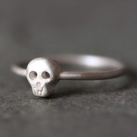 Baby Skull Earrings in Sterling Silver