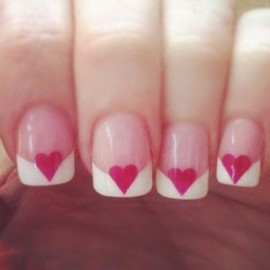 nail - Heart French Manicure