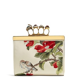 Alexander McQueen - Resort 2019 Knuckle floral-embroidered clutch