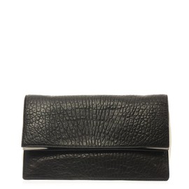 McQ, Alexander McQueen - Fold-over grained-leather clutch