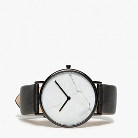The Horse - White Marble/Black Band Watch