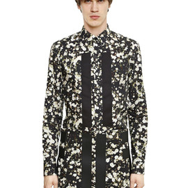GIVENCHY - SS2015 BANDS ON PRINTED COTTON POPLIN SHIRT