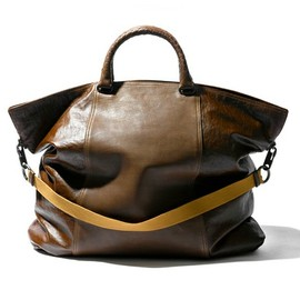BOTTEGA VENETA - Linen-Canvas and Washed Leather Bag