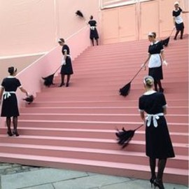 LOUIS VUITTON - pink staircases and french maids