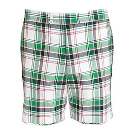 BLACK FLEECE BY Brooks Brothers - Madras Double Button Shorts