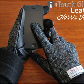 Harris Tweed - iTouch Glove Leather