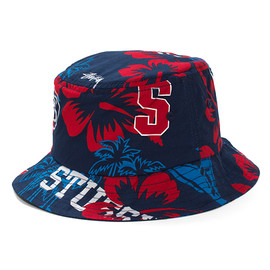STUSSY - College Floral Bucket Hat
