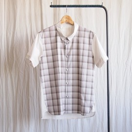 TROVE - FADE SHIRT [short sleeve] #gray beige