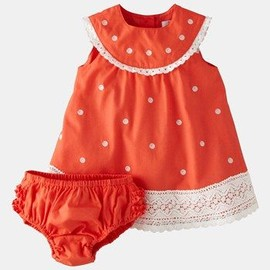 Mini Boden 'Crochet Trim' Dress & Bloomers (Infant) available at #Nordstrom