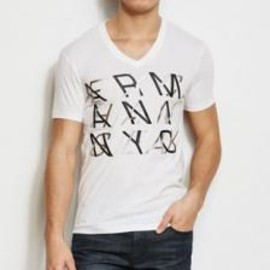 ARMANI EXCHANGE - Slanted Logo Tee