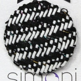 Luulla - Black and White Hand-woven Brooch