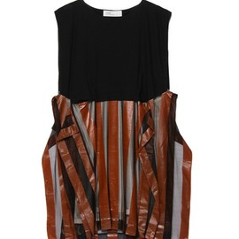 TOGA - stripe print Jersey one-piece