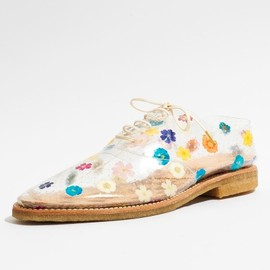 Anrealage -  Clear Floral Oxfords