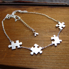 smilingsivlersmith -  Puzzle Necklace About Autism - 50% Sales go to Autism Society