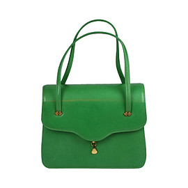 Charming Apple Green Leather Day Bag