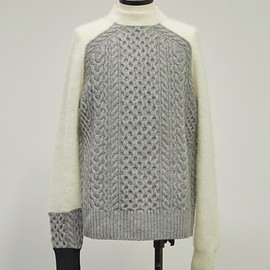 sacai - CABLE PATTERN KNIT PULLOVER 17-01490M