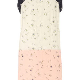 MARNI - People-print silk-crepe and cotton dress