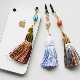 Hand-Hammered Heart&Tassel Phone Charm