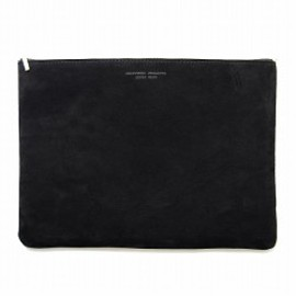CRAFTWORK PRODUCTS - SUEDE FLAT POUCH L black