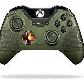 Microsoft - Xbox One Wireless Controller: Halo 5: Guardians Master Chief - Limited Edition