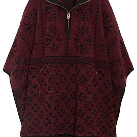 Chloé - Oversized wool and cashmere-blend terry cape