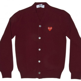 PLAY COMME des GARCONS - Red Play Men's Cardigan (Burgundy)