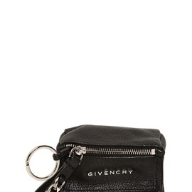GIVENCHY - GRAINED LEATHER COIN KEY HOLDER