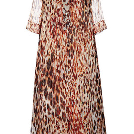 BOUCHRA JARRAR - SS2015 Animalier Printed Muslin Dress