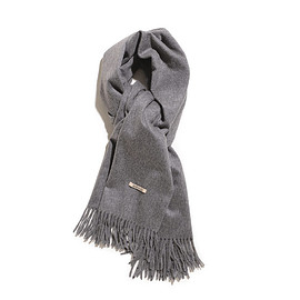 AURALEE - Cashmere Wide Stole-Top Gray